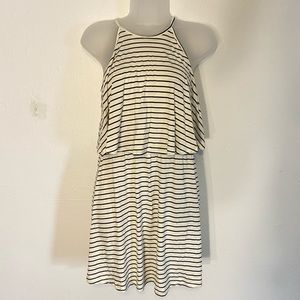 American Eagle small striped black and white dress